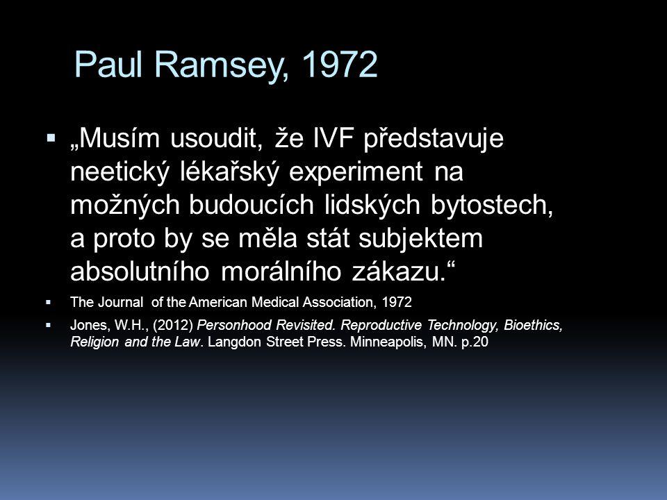 Paul Ramsey, 1972