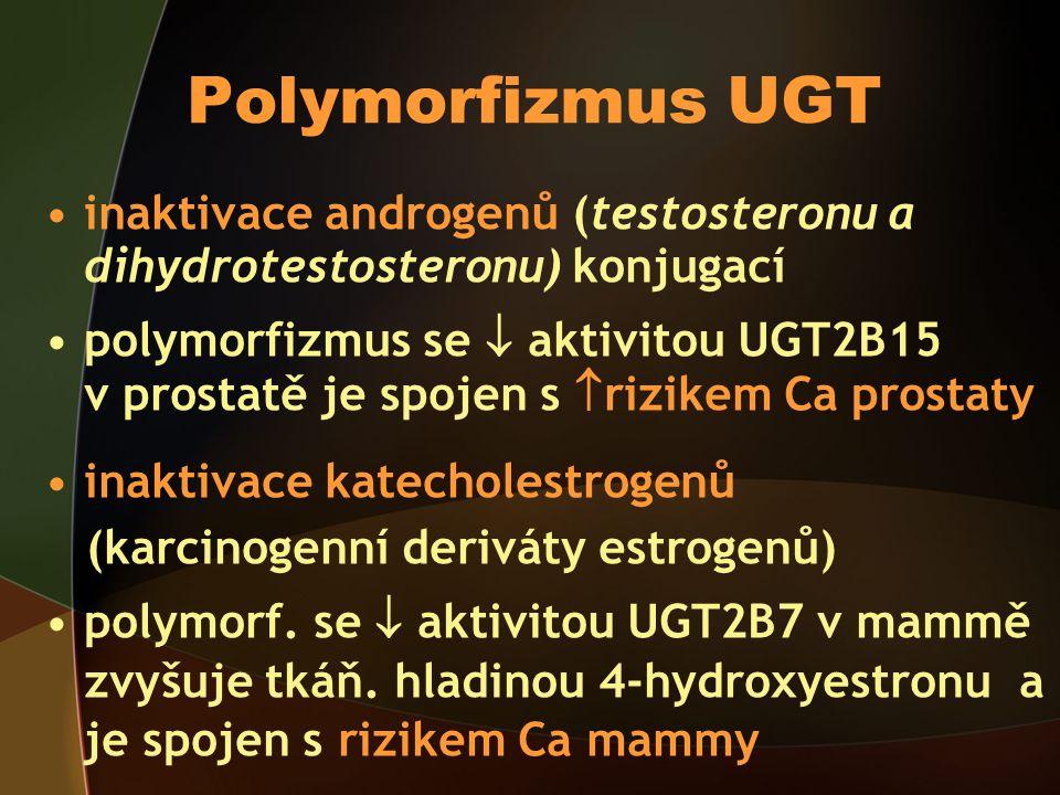 Polymorfizmus UGT inaktivace androgenů (testosteronu a dihydrotestosteronu) konjugací.