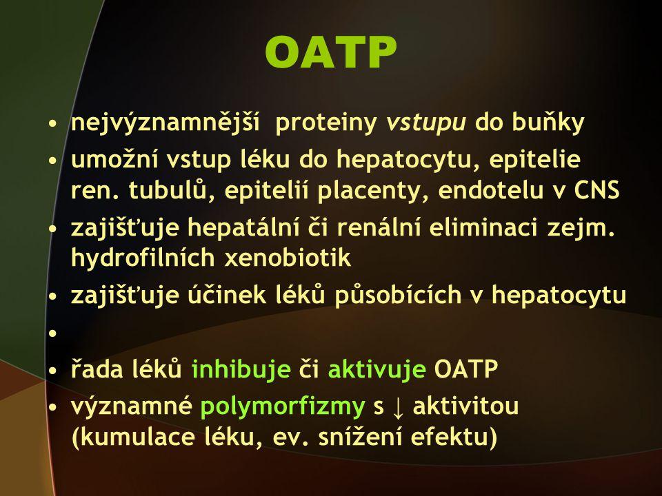 OATP nejvýznamnější proteiny vstupu do buňky