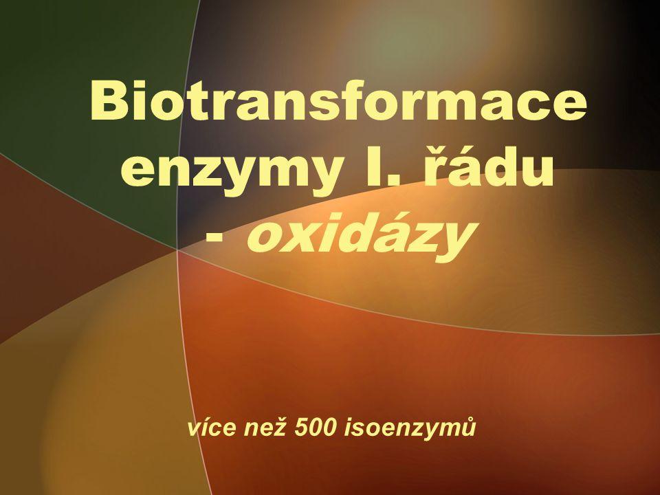 Biotransformace enzymy I. řádu - oxidázy