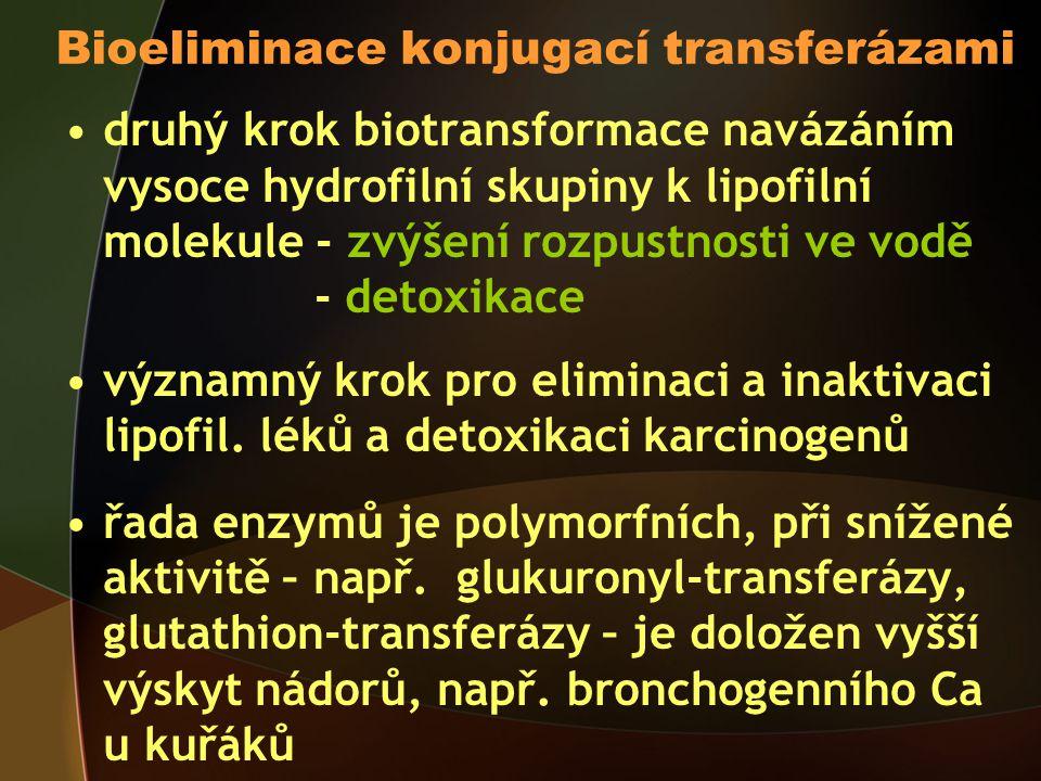 Bioeliminace konjugací transferázami
