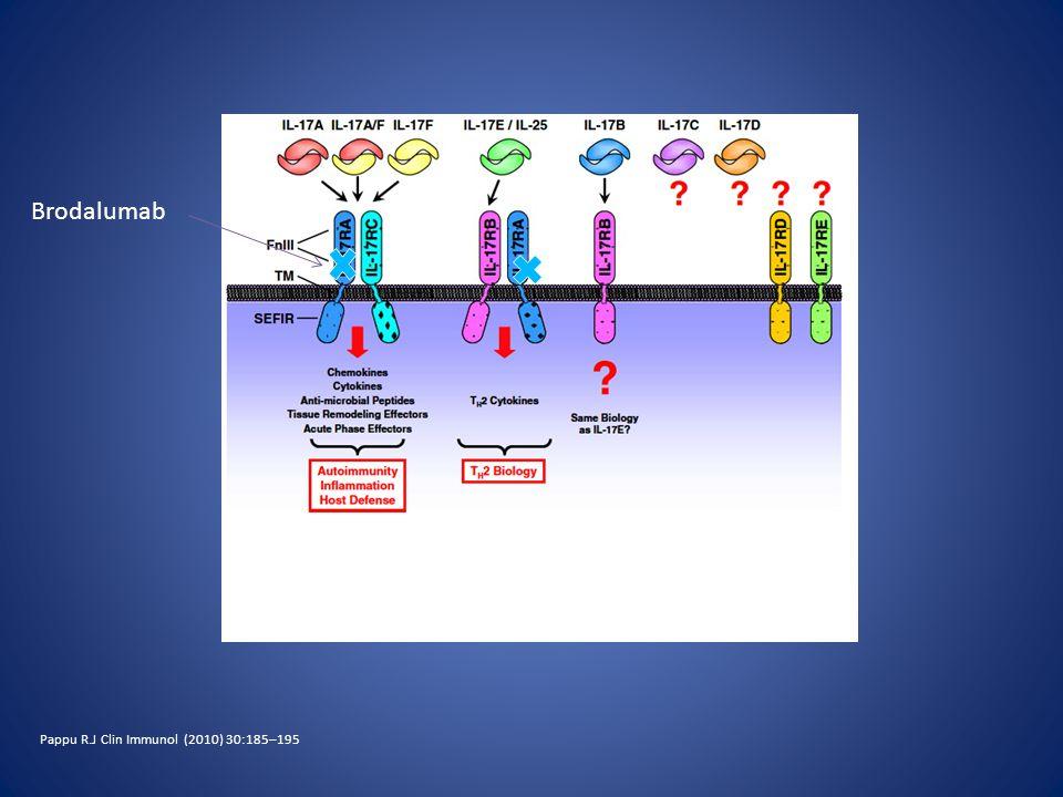Brodalumab Pappu R.J Clin Immunol (2010) 30:185–195