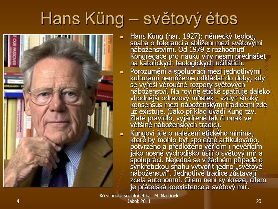 Hans Küng – světový étos
