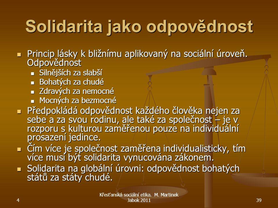 Solidarita jako odpovědnost