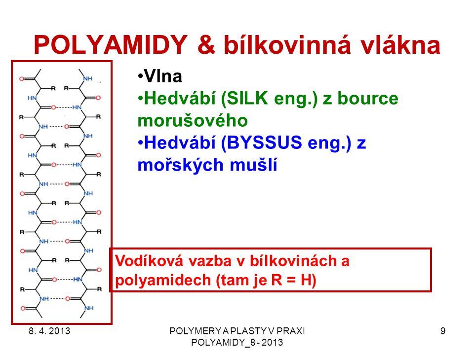 POLYAMIDY & bílkovinná vlákna