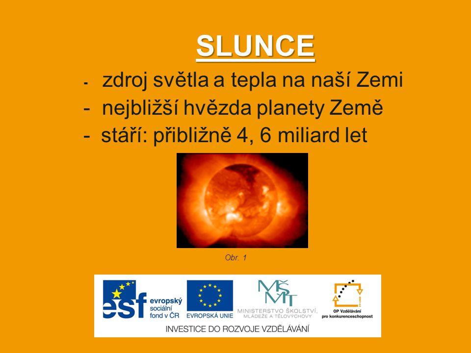 SLUNCE - nejbližší hvězda planety Země