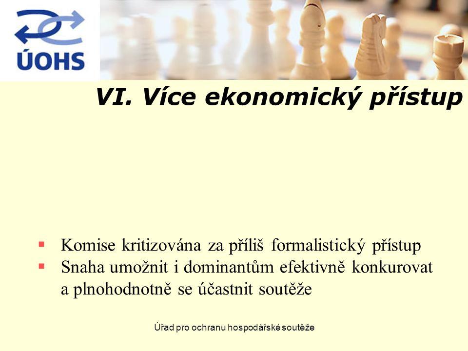 VI. Více ekonomický přístup