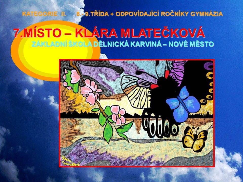 KATEGORIE II. 8.- 9.TŘÍDA + ODPOVÍDAJÍCÍ ROČNÍKY GYMNÁZIA