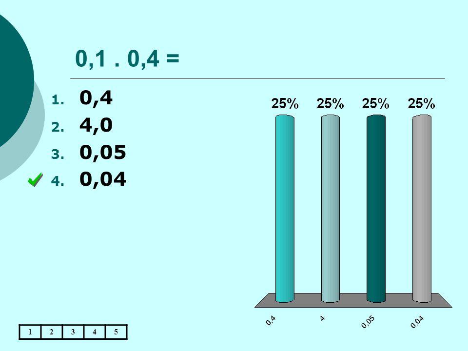 0,1 . 0,4 = 0,4 4,0 0,05 0,04 1 2 3 4 5