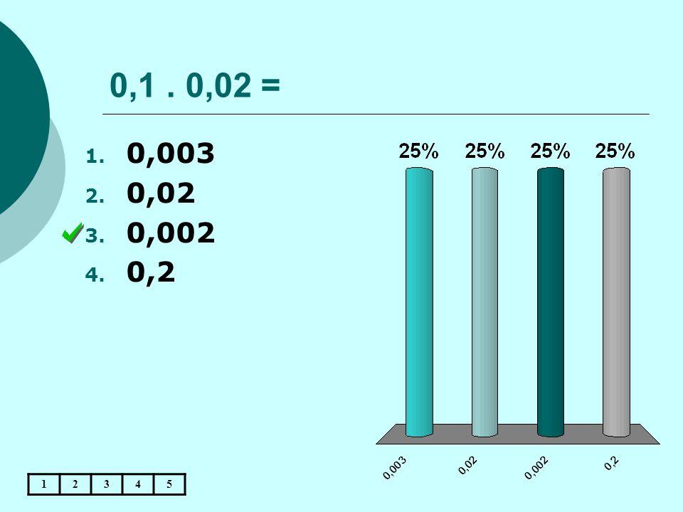 0,1 . 0,02 = 0,003 0,02 0,002 0,2 1 2 3 4 5