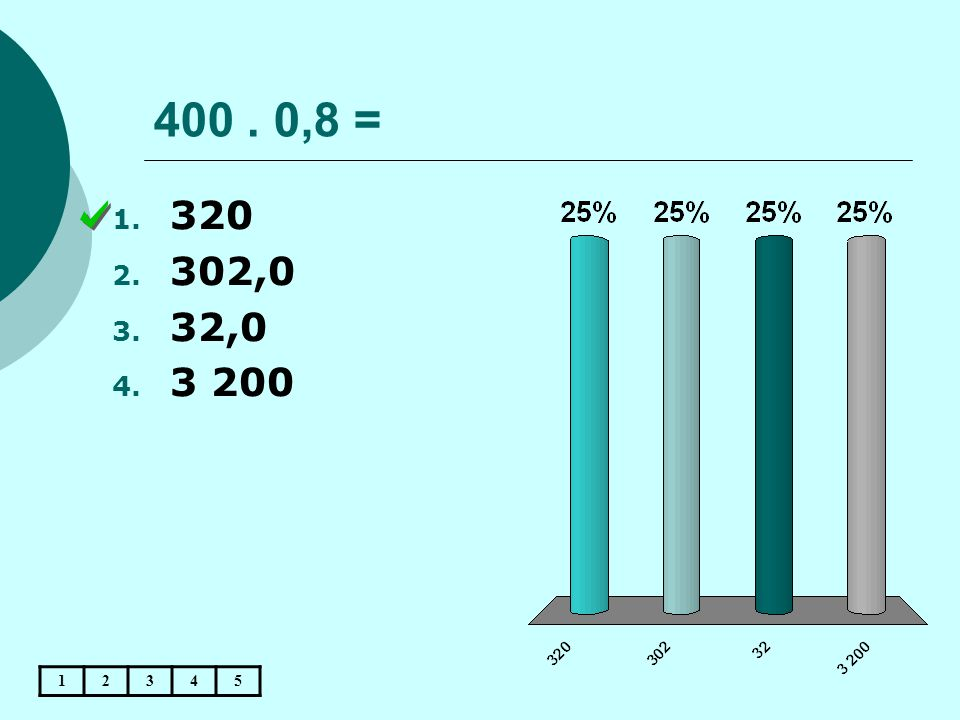 400 . 0,8 = 320 302,0 32,0 3 200 1 2 3 4 5