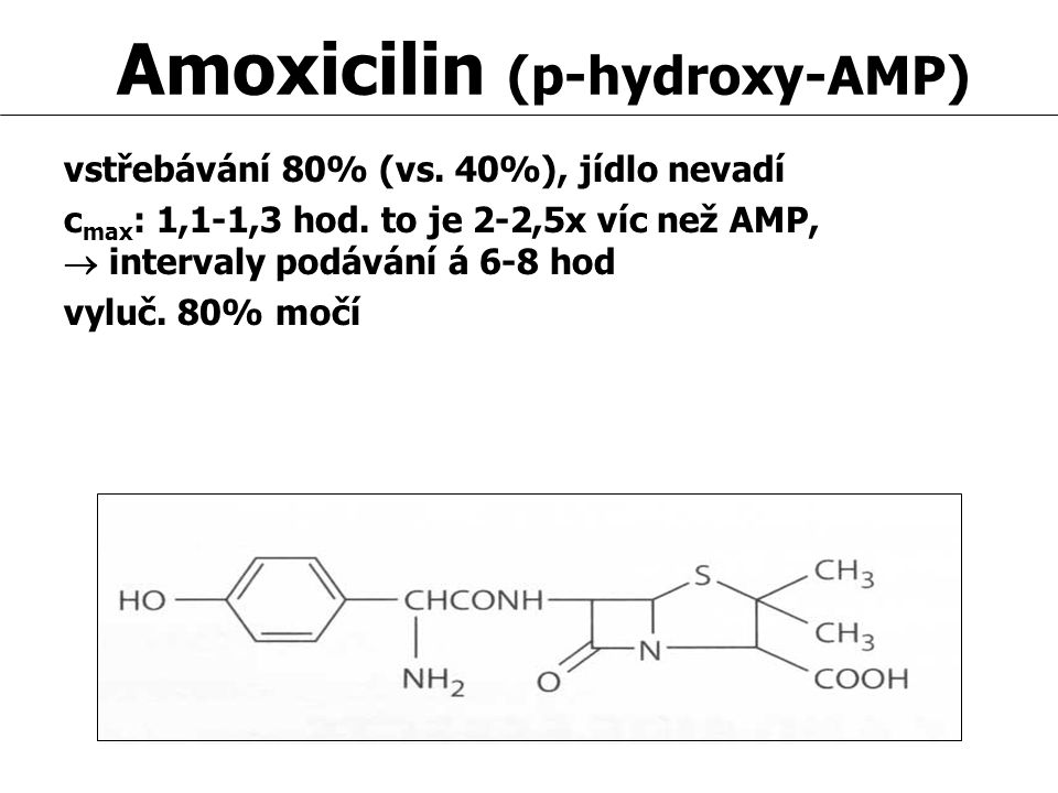 Amoxicilin (p-hydroxy-AMP)