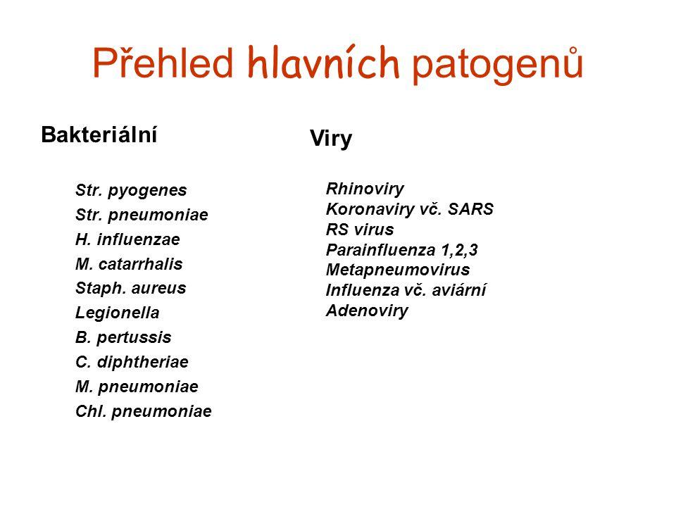 Přehled hlavních patogenů