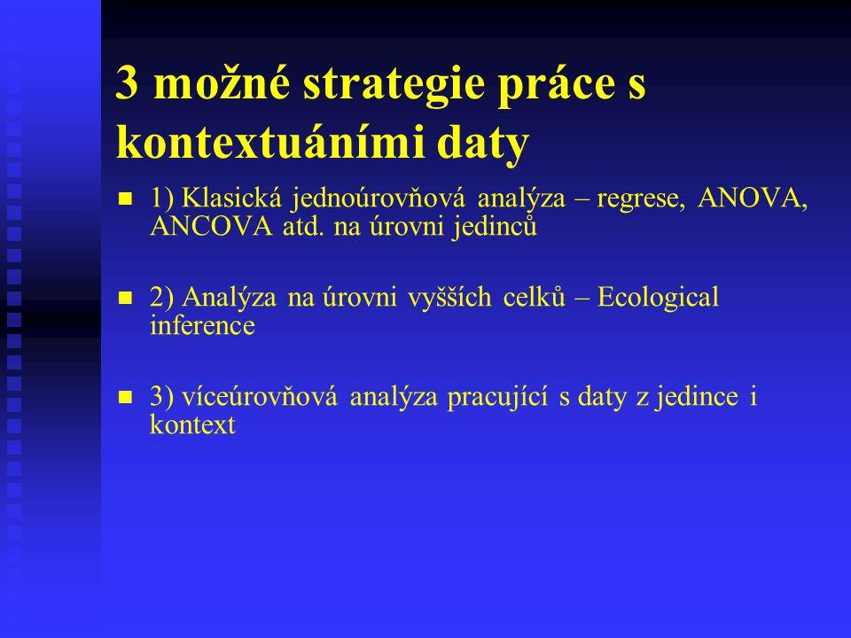 3 možné strategie práce s kontextuáními daty
