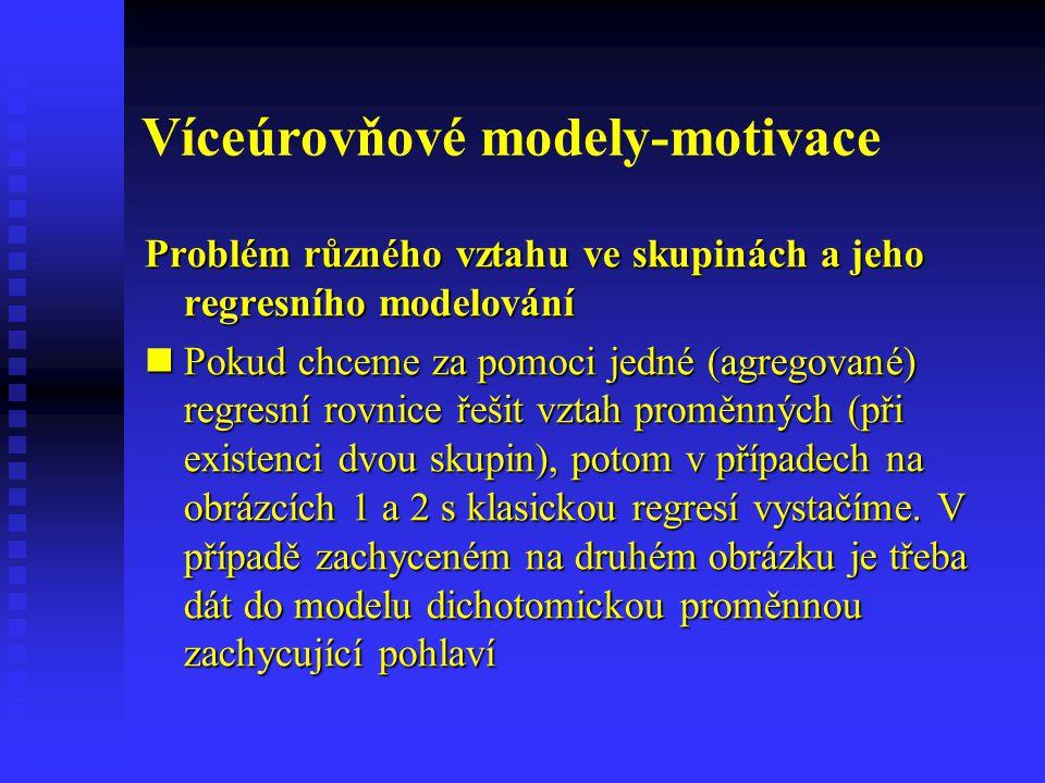 Víceúrovňové modely-motivace