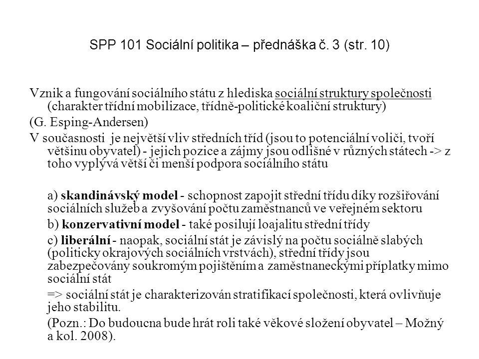 SPP 101 Sociální politika – přednáška č. 3 (str. 10)