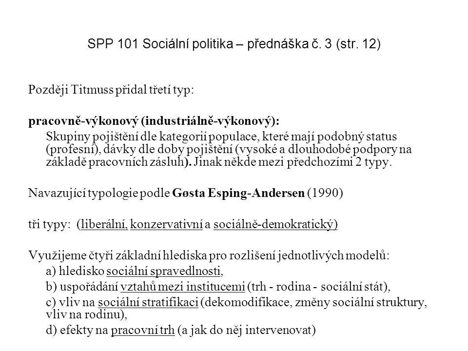 SPP 101 Sociální politika – přednáška č. 3 (str. 12)