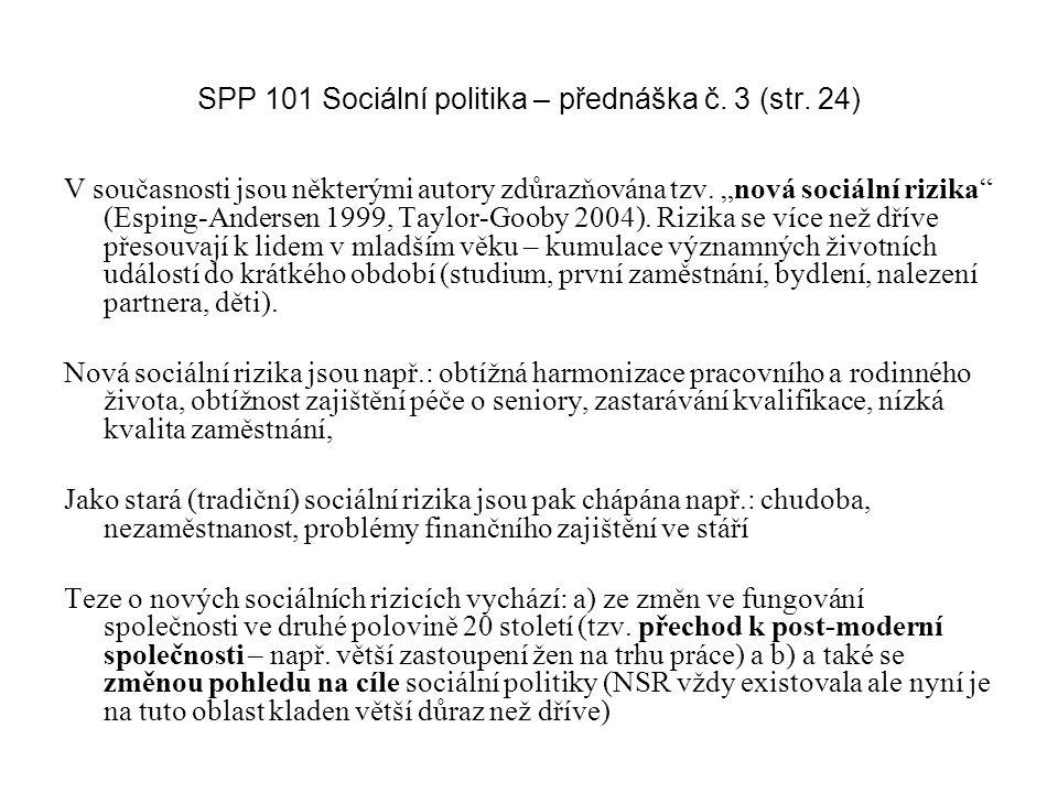 SPP 101 Sociální politika – přednáška č. 3 (str. 24)
