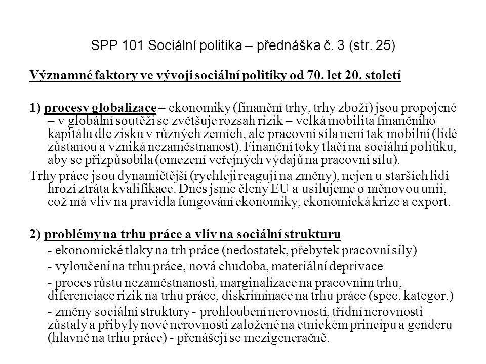 SPP 101 Sociální politika – přednáška č. 3 (str. 25)