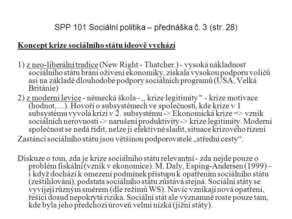 SPP 101 Sociální politika – přednáška č. 3 (str. 28)