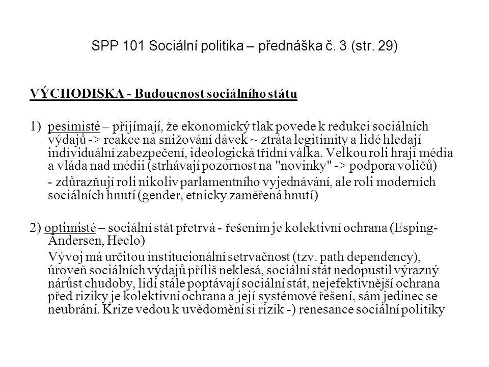 SPP 101 Sociální politika – přednáška č. 3 (str. 29)