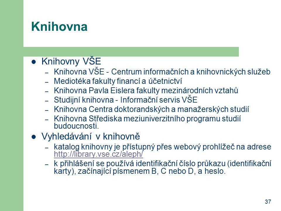 Knihovna Knihovny VŠE Vyhledávání v knihovně