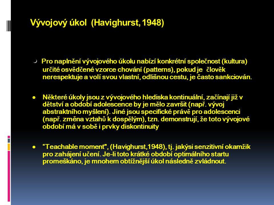 Vývojový úkol (Havighurst, 1948)