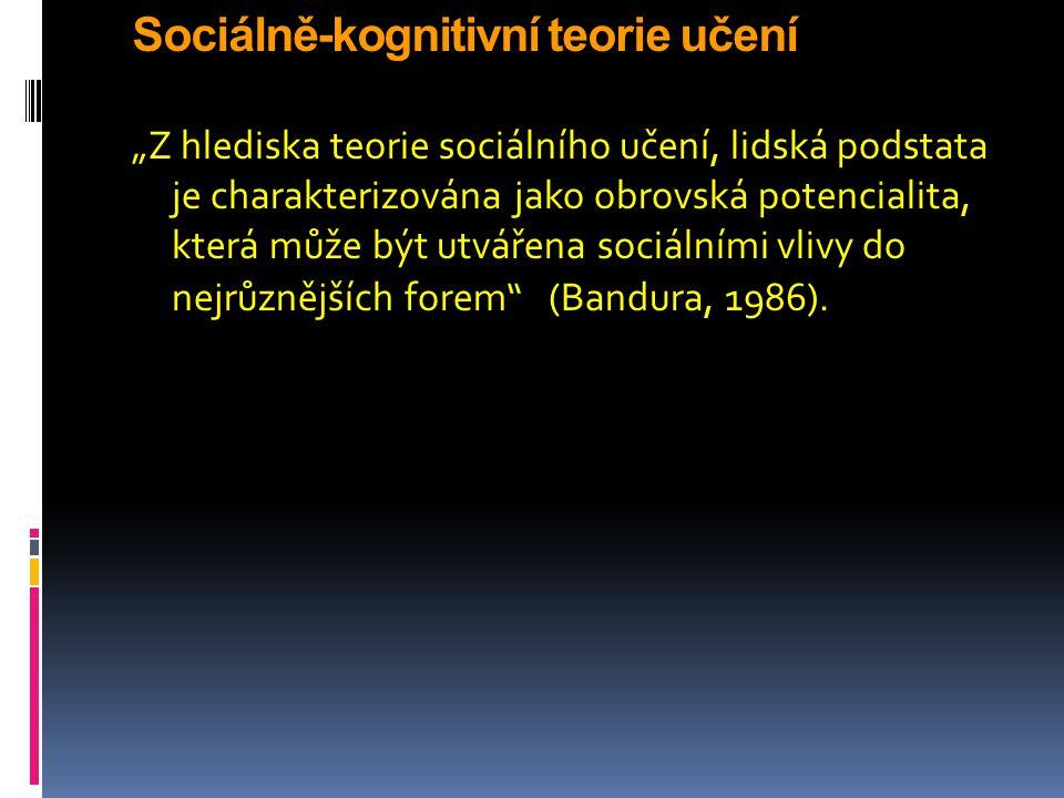 Sociálně-kognitivní teorie učení