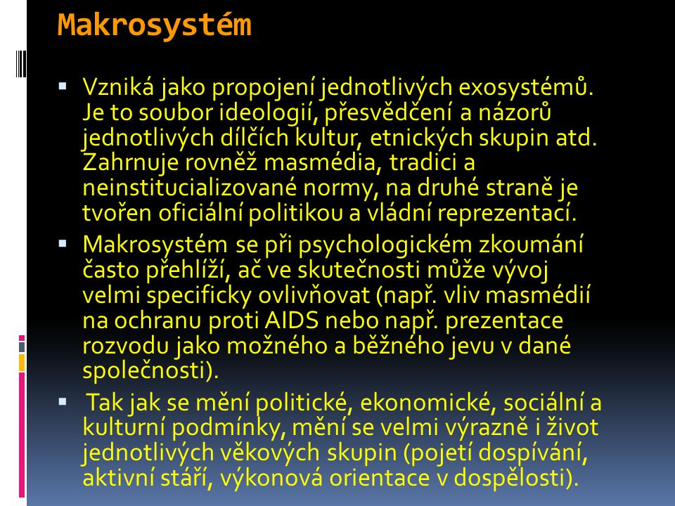 Makrosystém