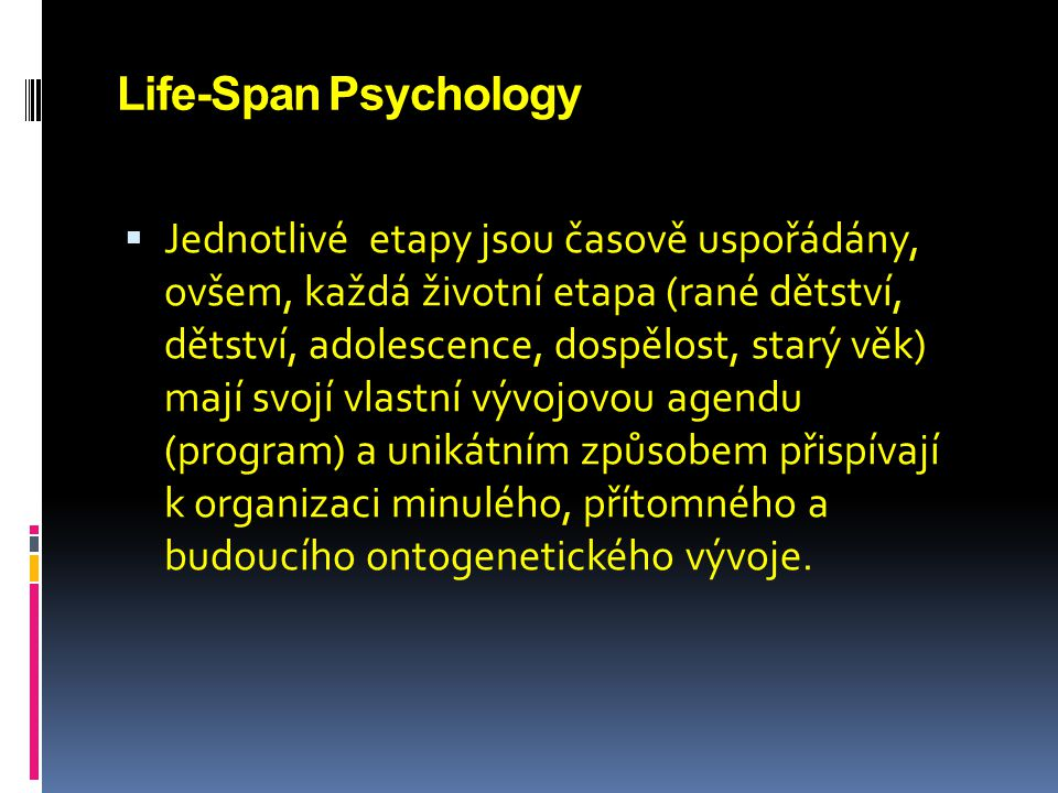 Life-Span Psychology