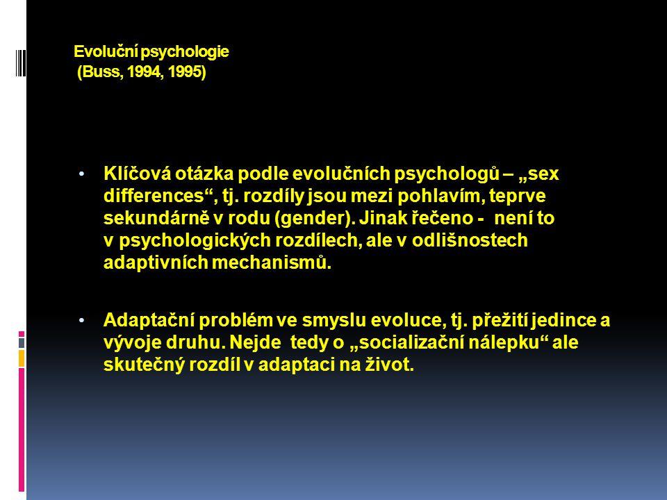 Evoluční psychologie (Buss, 1994, 1995)