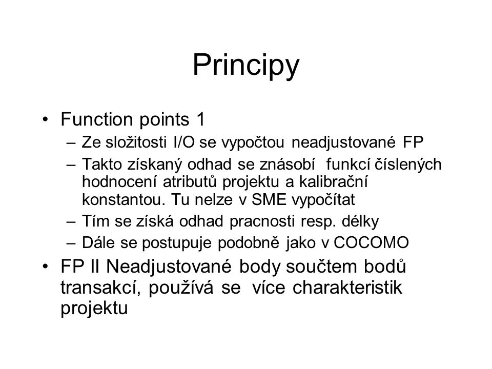Principy Function points 1