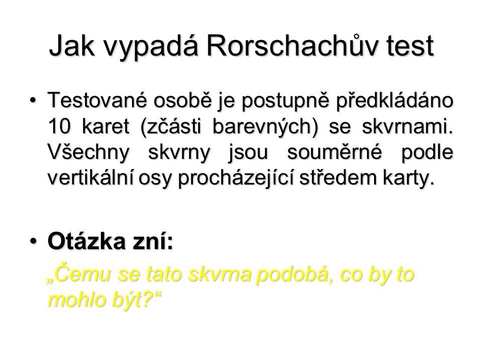 Jak vypadá Rorschachův test