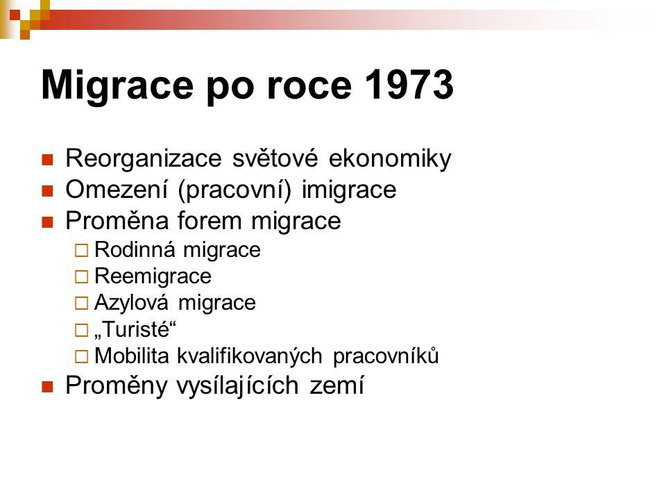 Migrace po roce 1973 Reorganizace světové ekonomiky