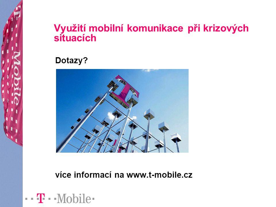 Využití mobilní komunikace při krizových situacích