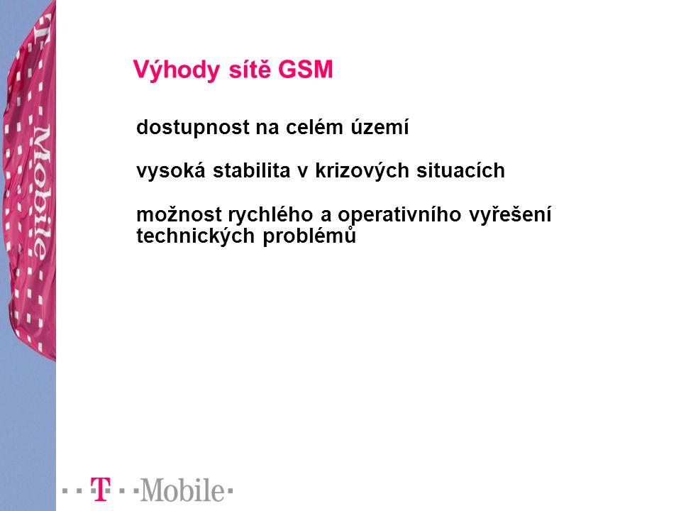 Výhody sítě GSM dostupnost na celém území