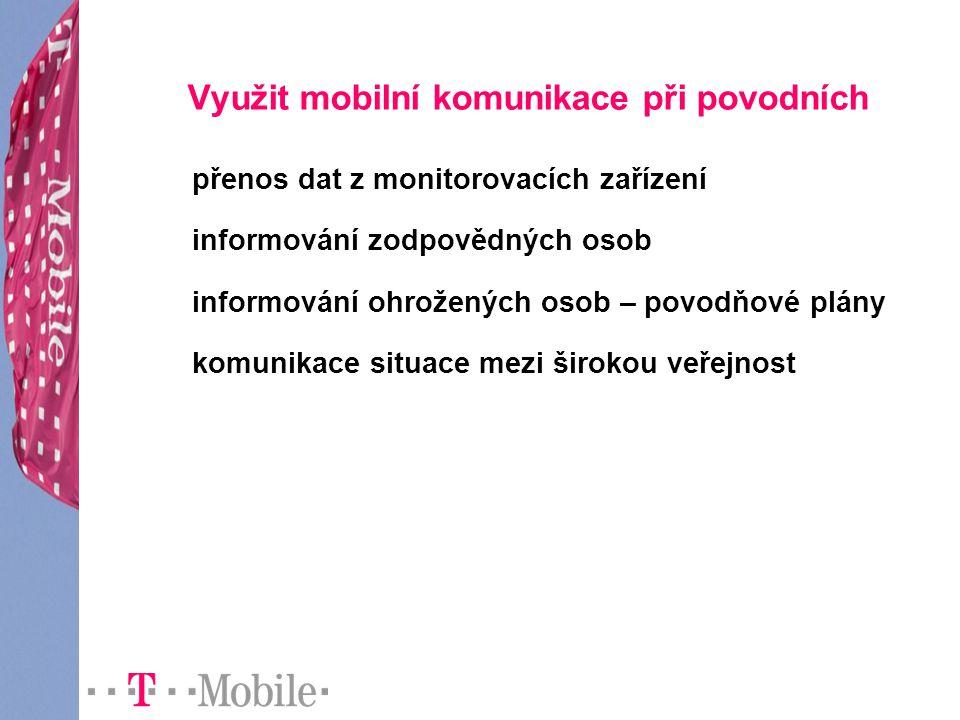 Využit mobilní komunikace při povodních
