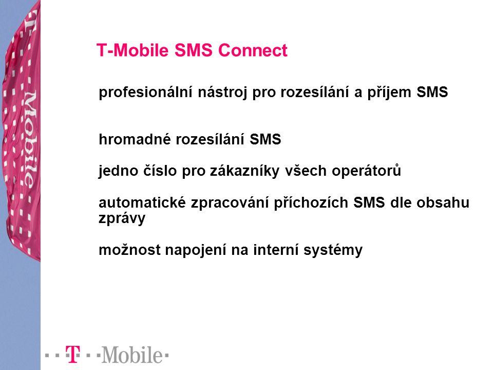 T-Mobile SMS Connect profesionální nástroj pro rozesílání a příjem SMS
