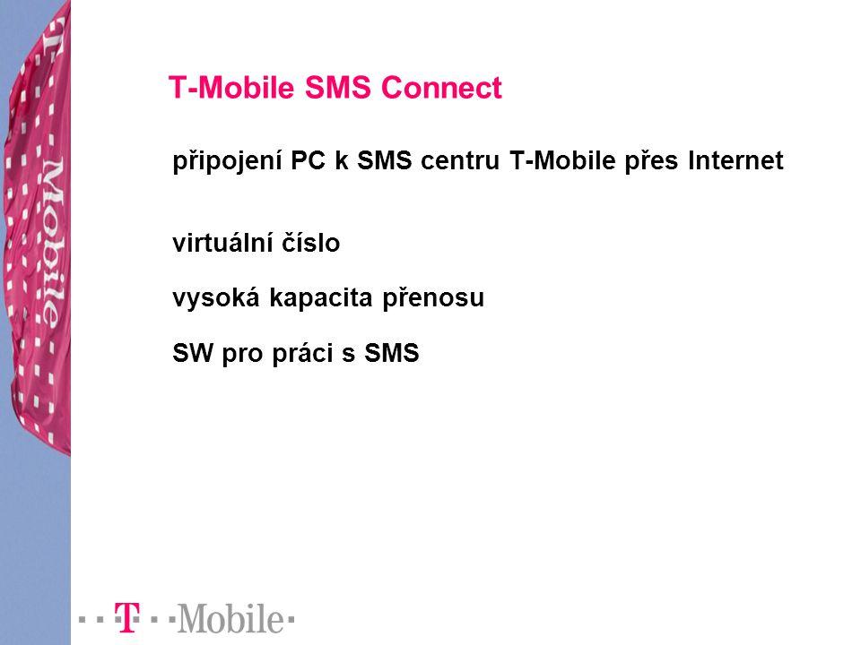 T-Mobile SMS Connect připojení PC k SMS centru T-Mobile přes Internet