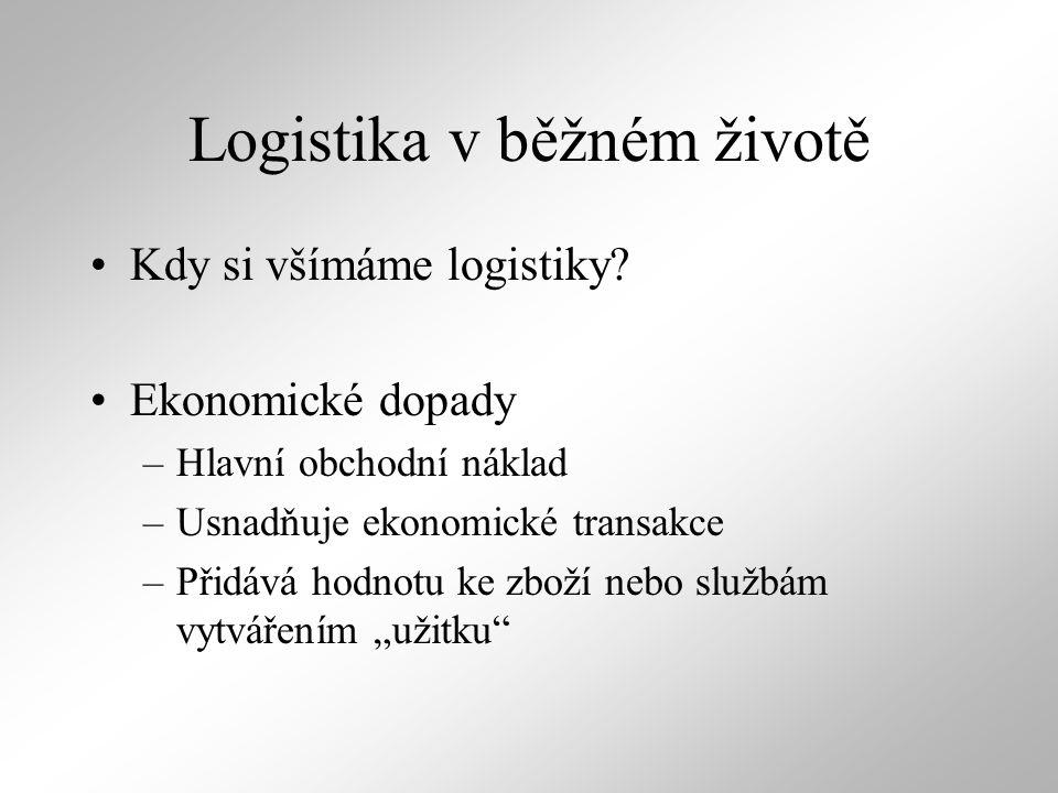 Logistika v běžném životě