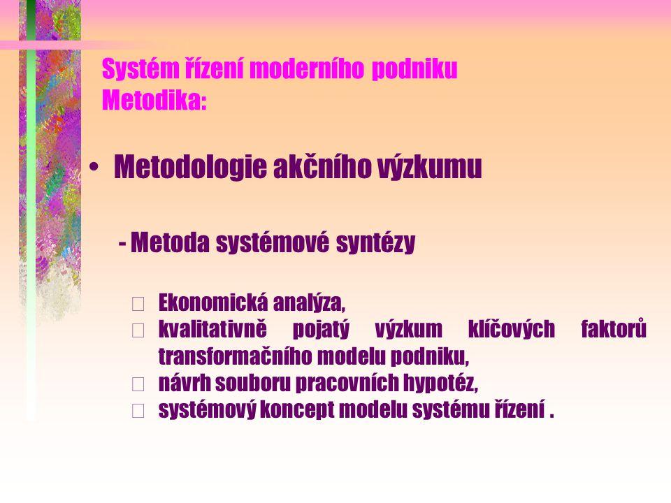 Systém řízení moderního podniku Metodika: