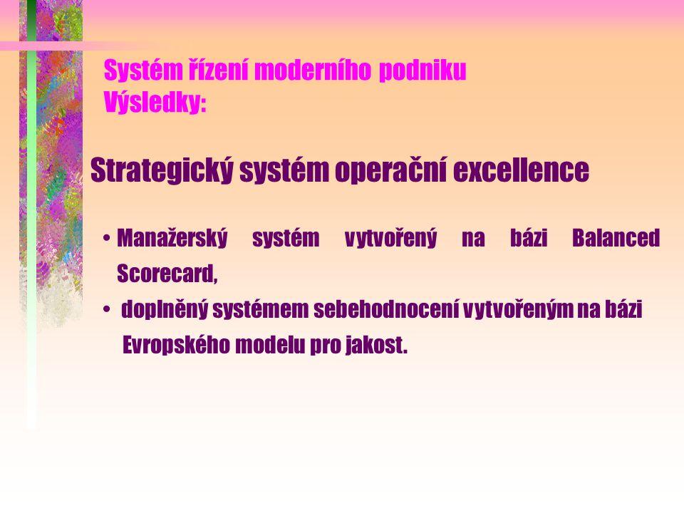 Systém řízení moderního podniku Výsledky: