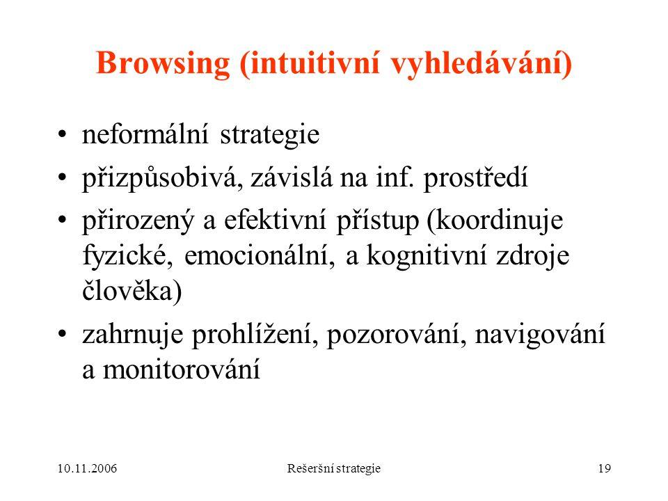 Browsing (intuitivní vyhledávání)