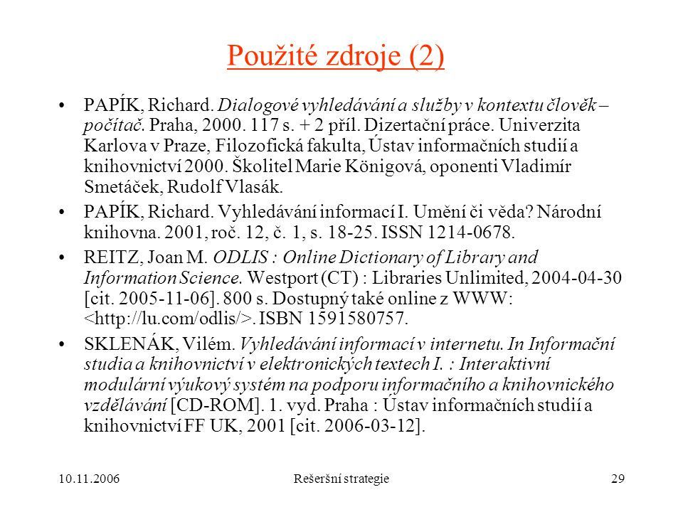 Použité zdroje (2)