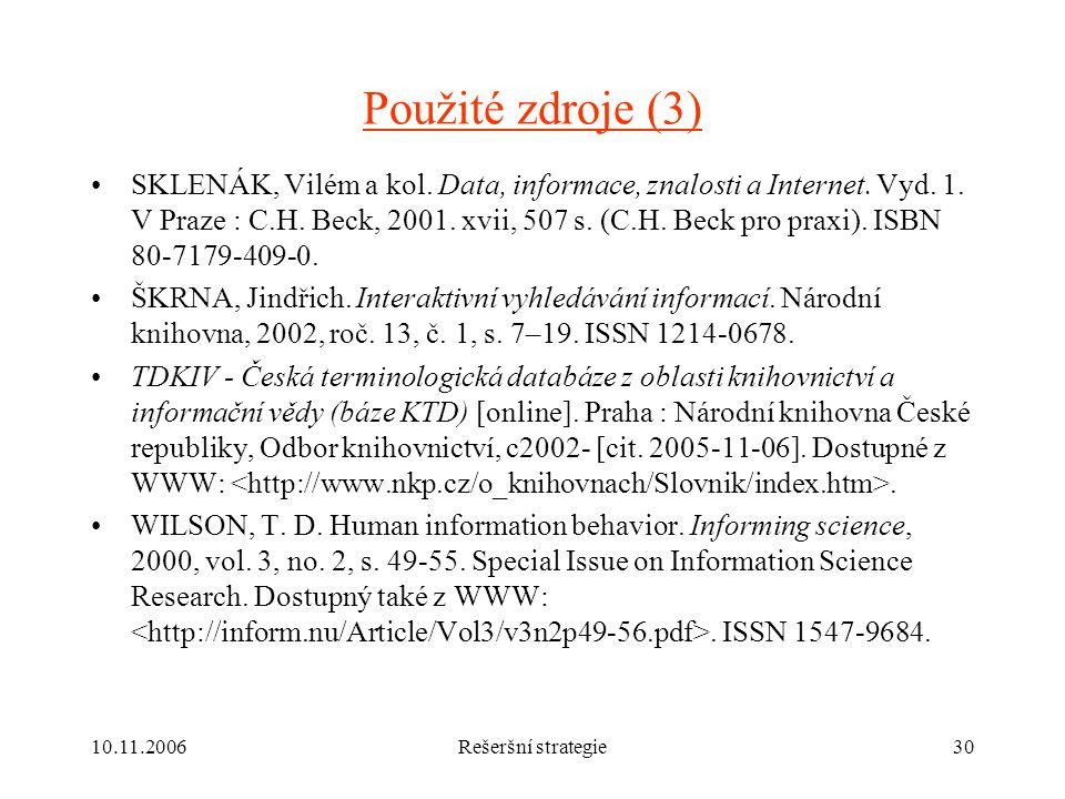 Použité zdroje (3)