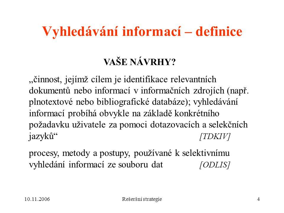 Vyhledávání informací – definice
