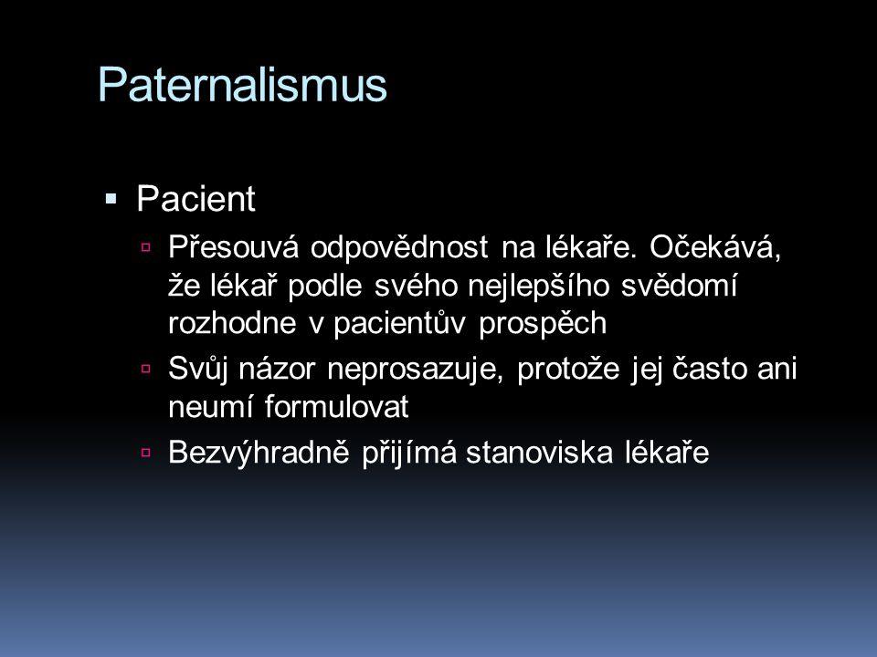 Paternalismus Pacient