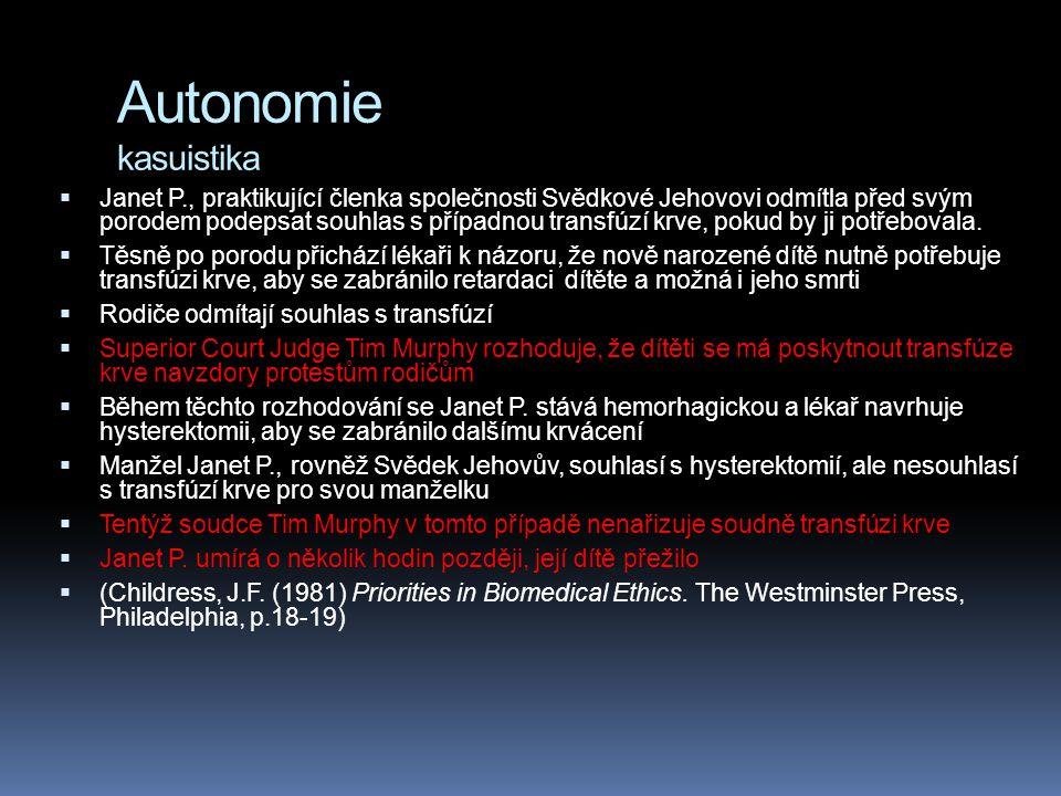 Autonomie kasuistika