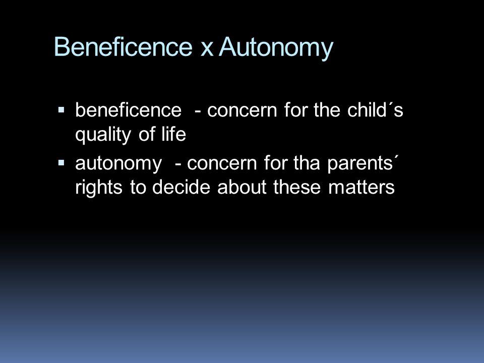 Beneficence x Autonomy