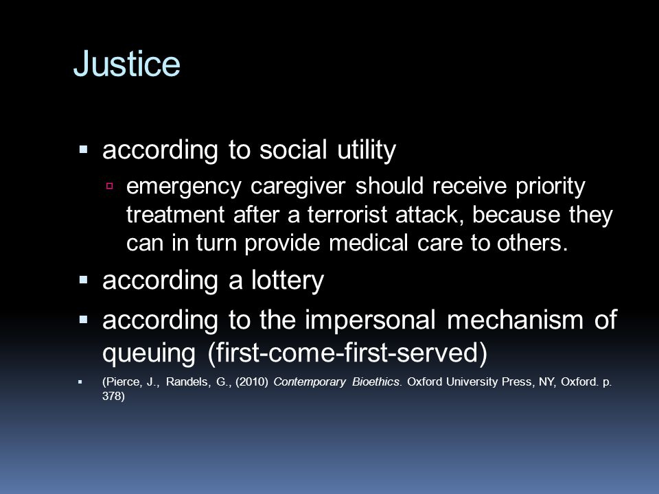 Justice according to social utility according a lottery